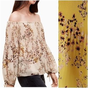 Aritzia Wilfred Talence blouse yellow floral large